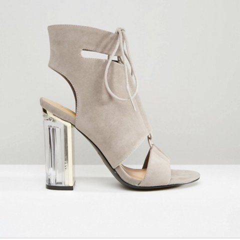 adfa115ca00 Never been worn truffle collection from ASOS clear heel in a - Depop