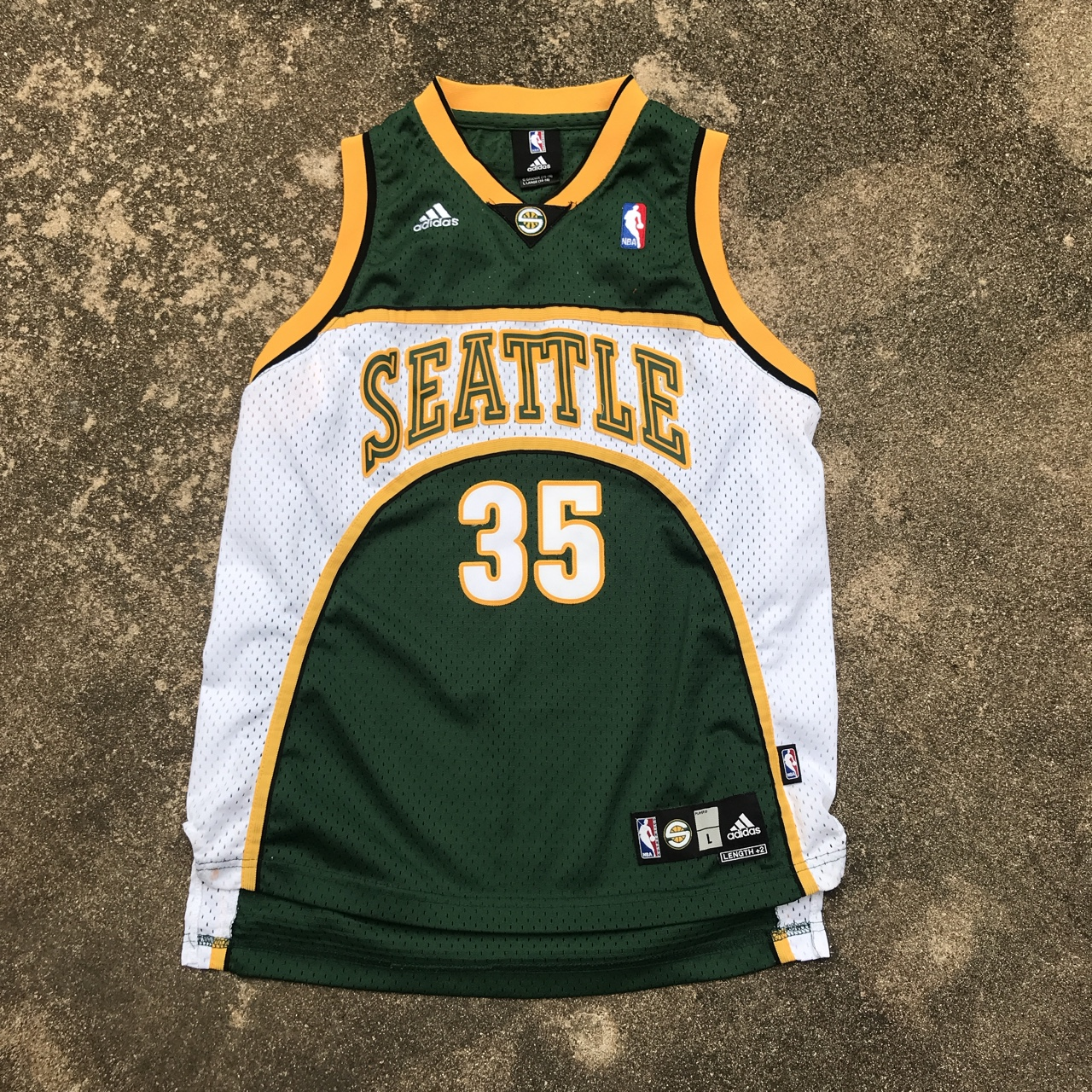 finest selection 483b8 6a3d1 Adidas Kevin Durant Seattle SuperSonics Jersey... - Depop