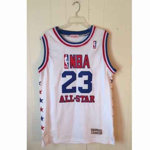 c1f28e409 Michael Jordan NBA All-Star Jersey. There is a stain (3rd - Depop