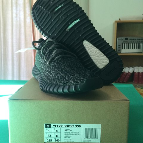 52d8fd99650b4 Adidas Yeezy Boost 350 Black Pirate! Size 8 US   8 1 2 UK  - Depop