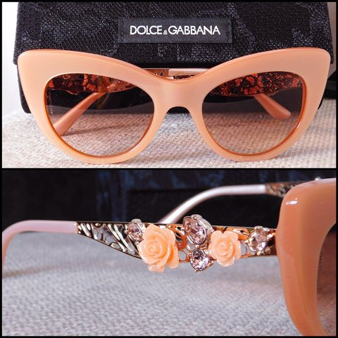 e71966ccc0c Dolce   Gabbana Rose Cat Eye Sunglasses. 50mm. NWT. Never in - Depop