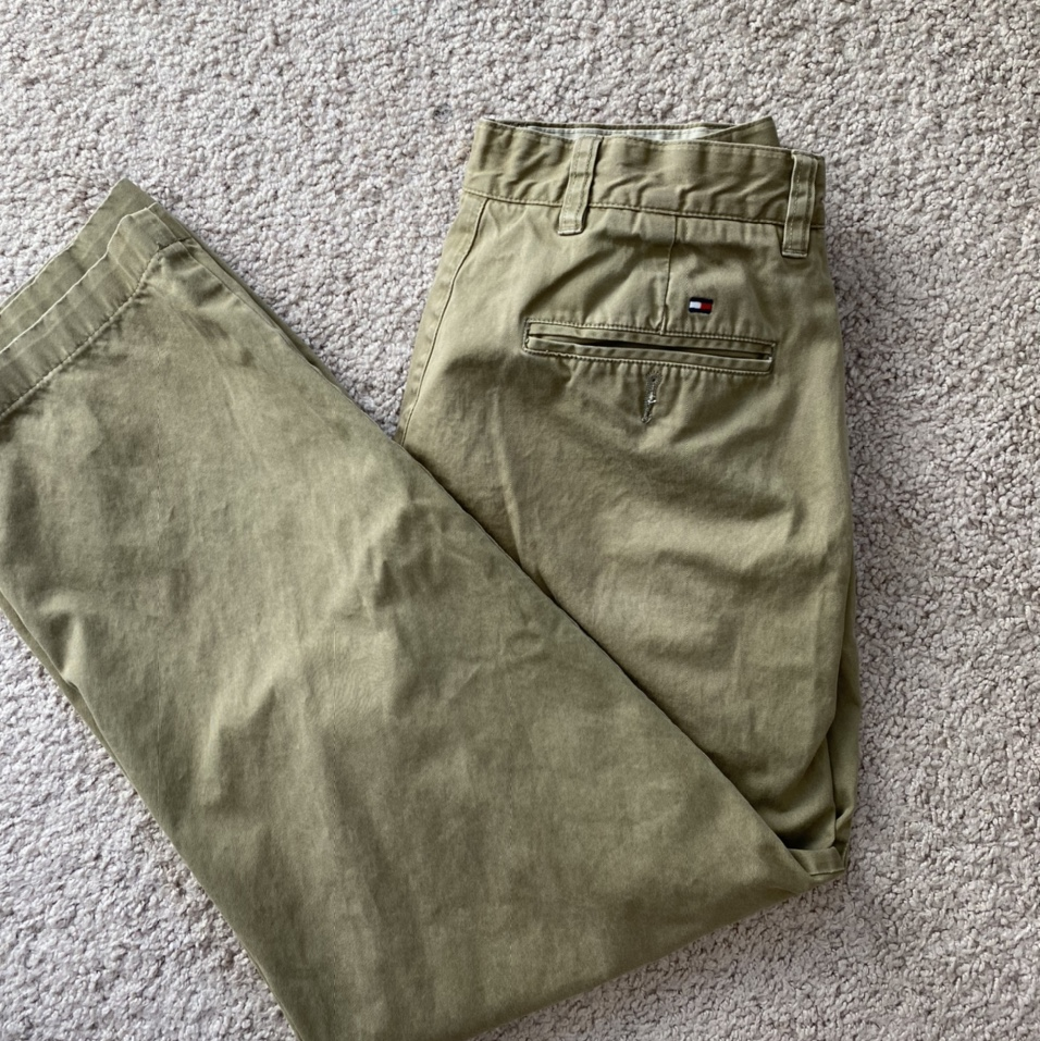 Vintage Tommy Hilfiger green cargo style high waisted wide