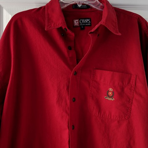 c9564c3b9186b6 @nyjetspleasewin. 5 months ago. Knightdale, Wake County, United States. Vintage  Chaps Ralph Lauren Red Button Up ...