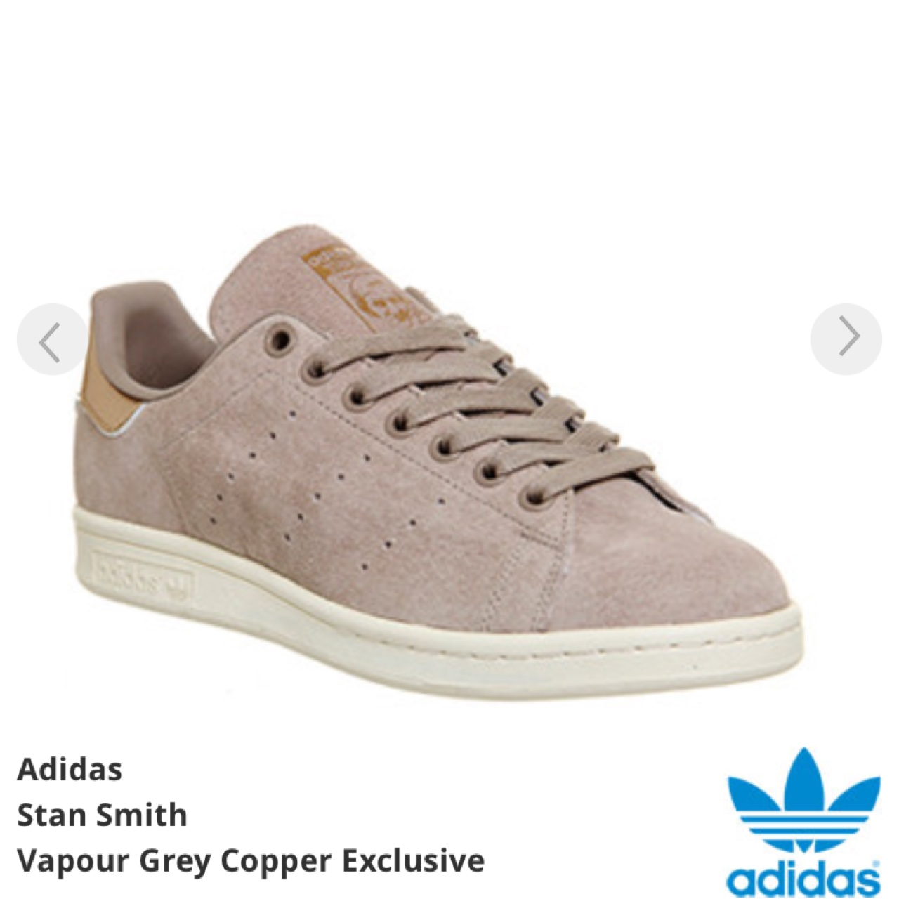 reputable site a64bd 3bb0d Adidas Stan Smith grey suede trainers UK 6 -... - Depop