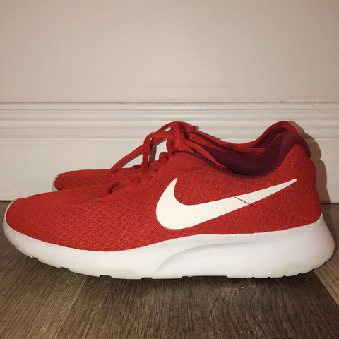 online retailer 0be55 67f8a Red Nike Roshes!!!  ON HOLD  These babies have barely 2 3 - Depop