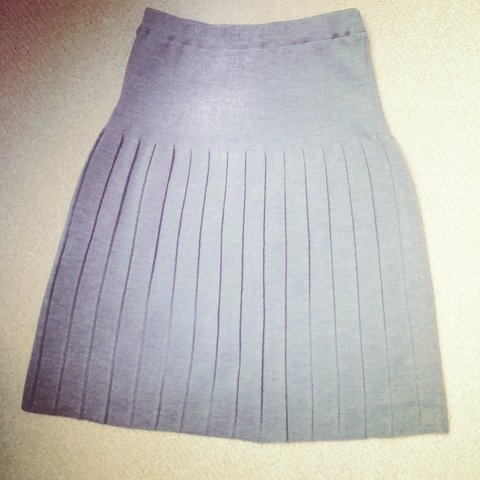 3b529b43f Les Sublimes pleated wool skirt, grey, French size 40 (US or - Depop