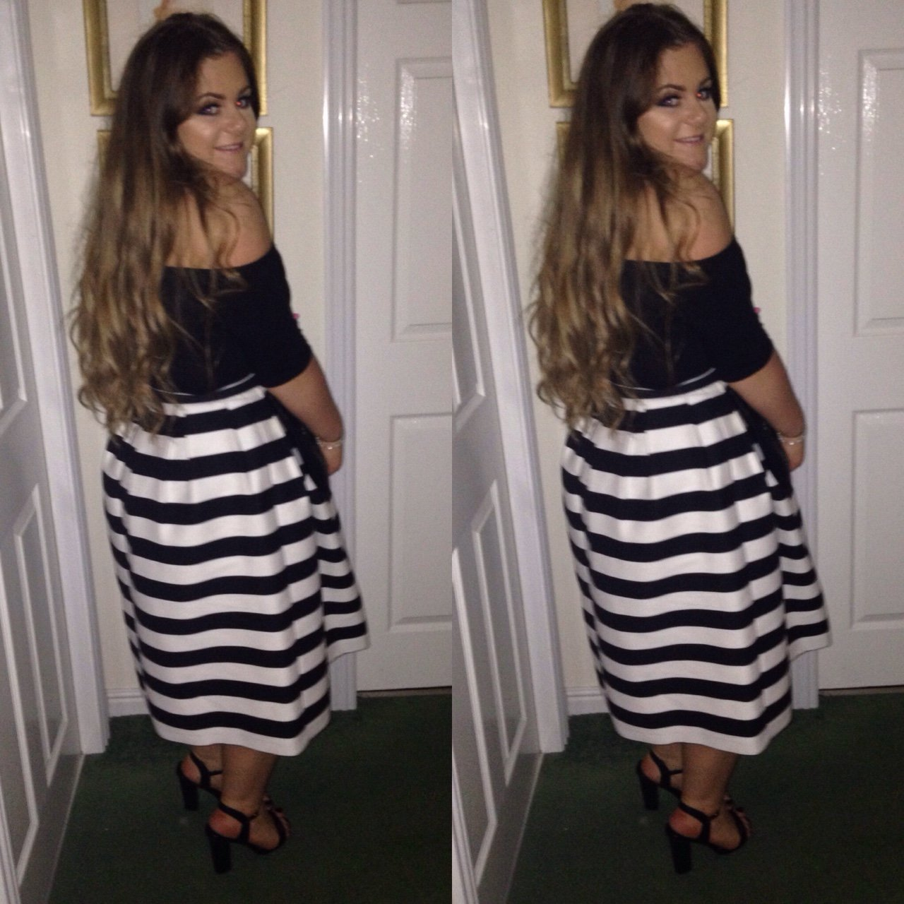 d567a481b5 REDUCED FOR 5 DAYS ONLY! Topshop striped midi skirt. Worn a - Depop