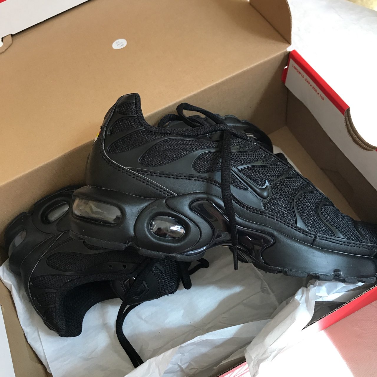 Brand new never worn Black TN AirMax plus size Depop