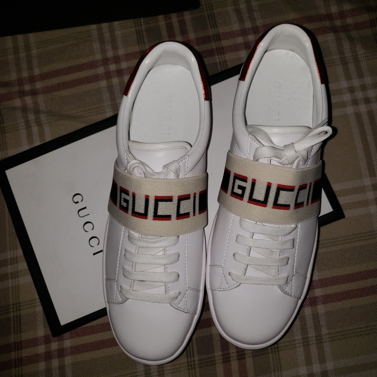 GUCCI Ace Sneakers With Elastic Stripe