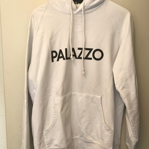 b4490bad48f7 used original rare palace hoodie size Large condition 8 10 - Depop