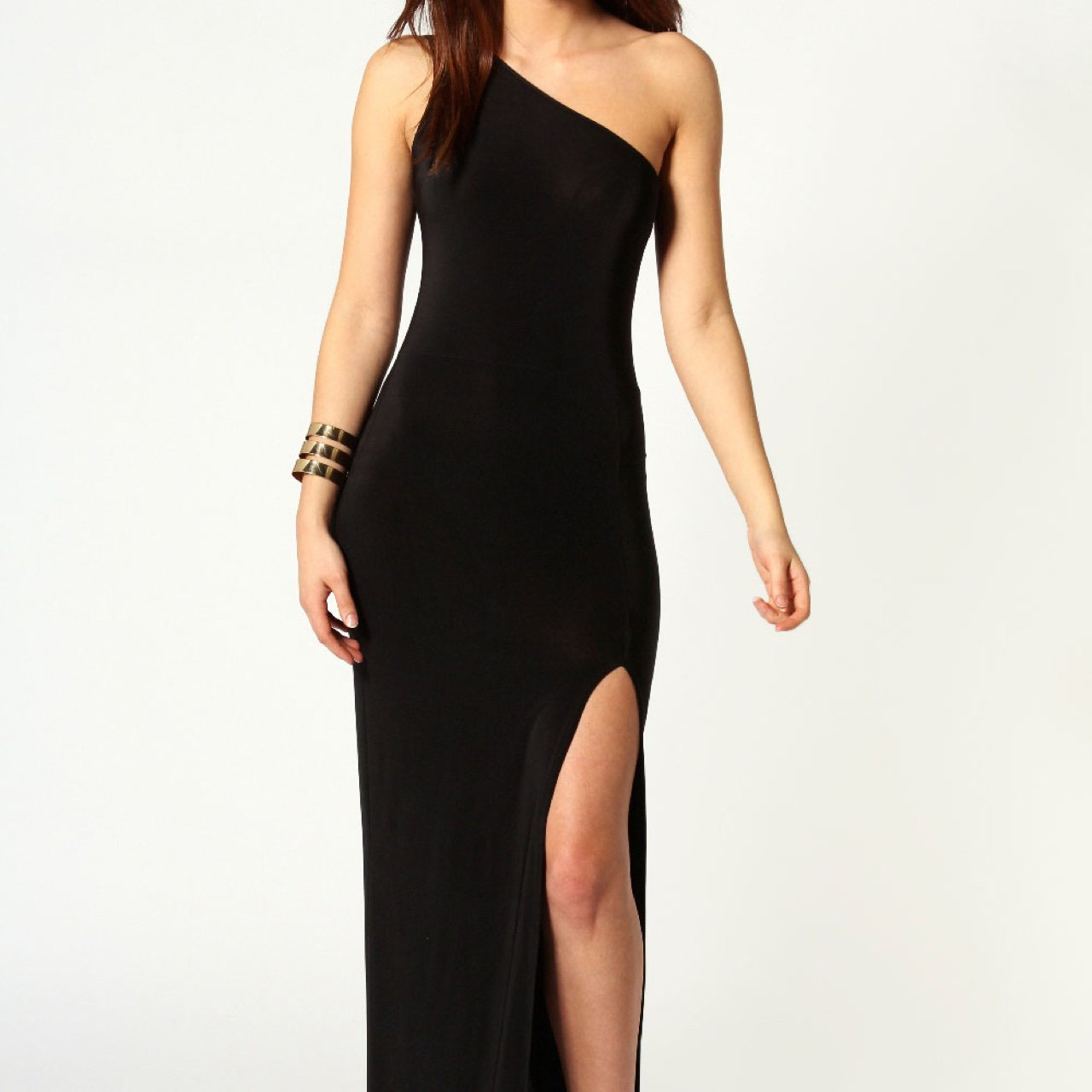 ca6b88dc00 @shannon107. 2 years ago. Shirley, United Kingdom. Beautiful floor length,  black, one shoulder maxi dress ...