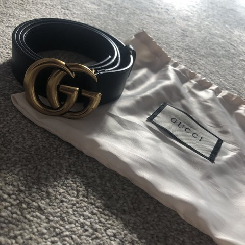 d33050d8525 BELT AND DUST BAG Barely worn as too big Immaculate Size - Depop