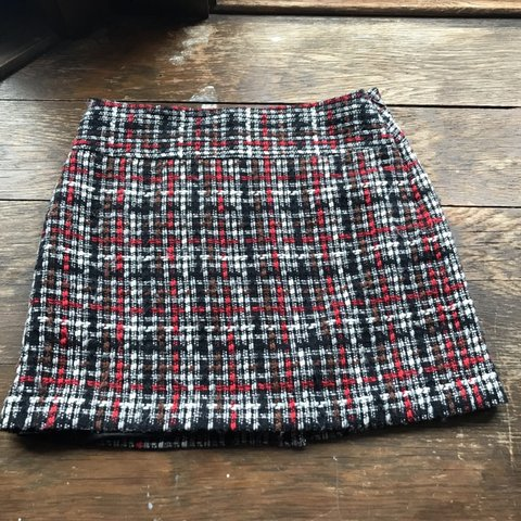 9ca4062fa the limited plaid mini skirt size 2. details are red, black, - Depop