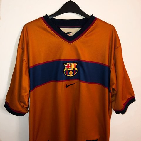 a79b1bbff Rare Retro Nike Barcelona 1998 99 Away Kit - Size for any or - Depop