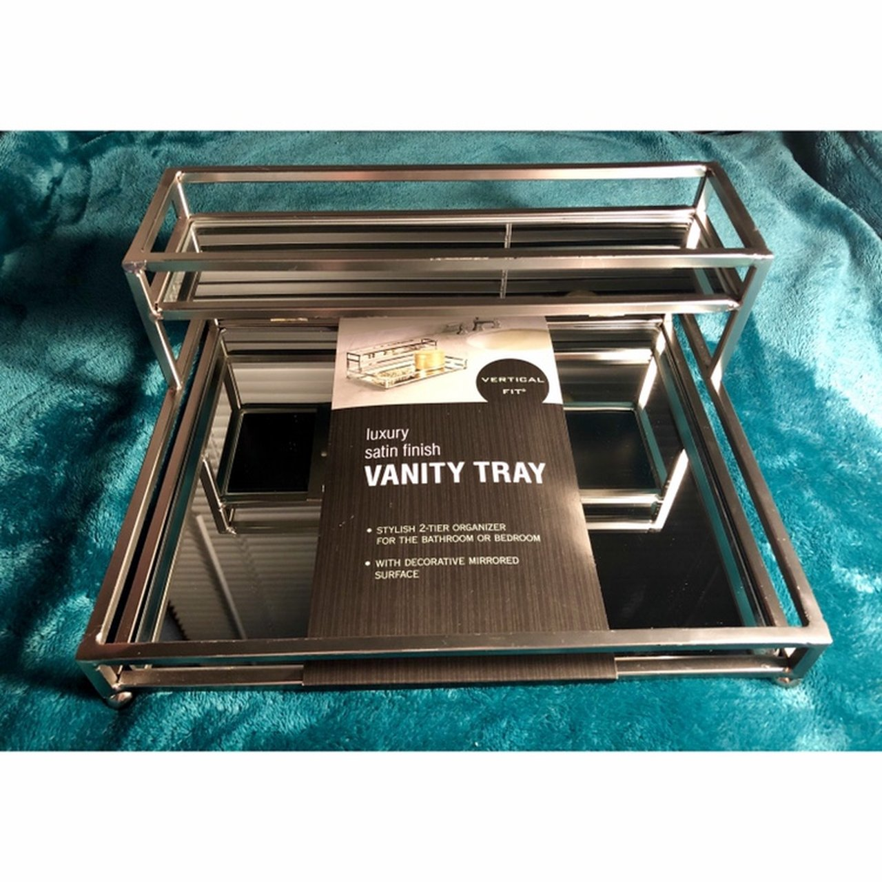 Luxury Satin Finish Vanity Tray Two Tier Organizer Depop
