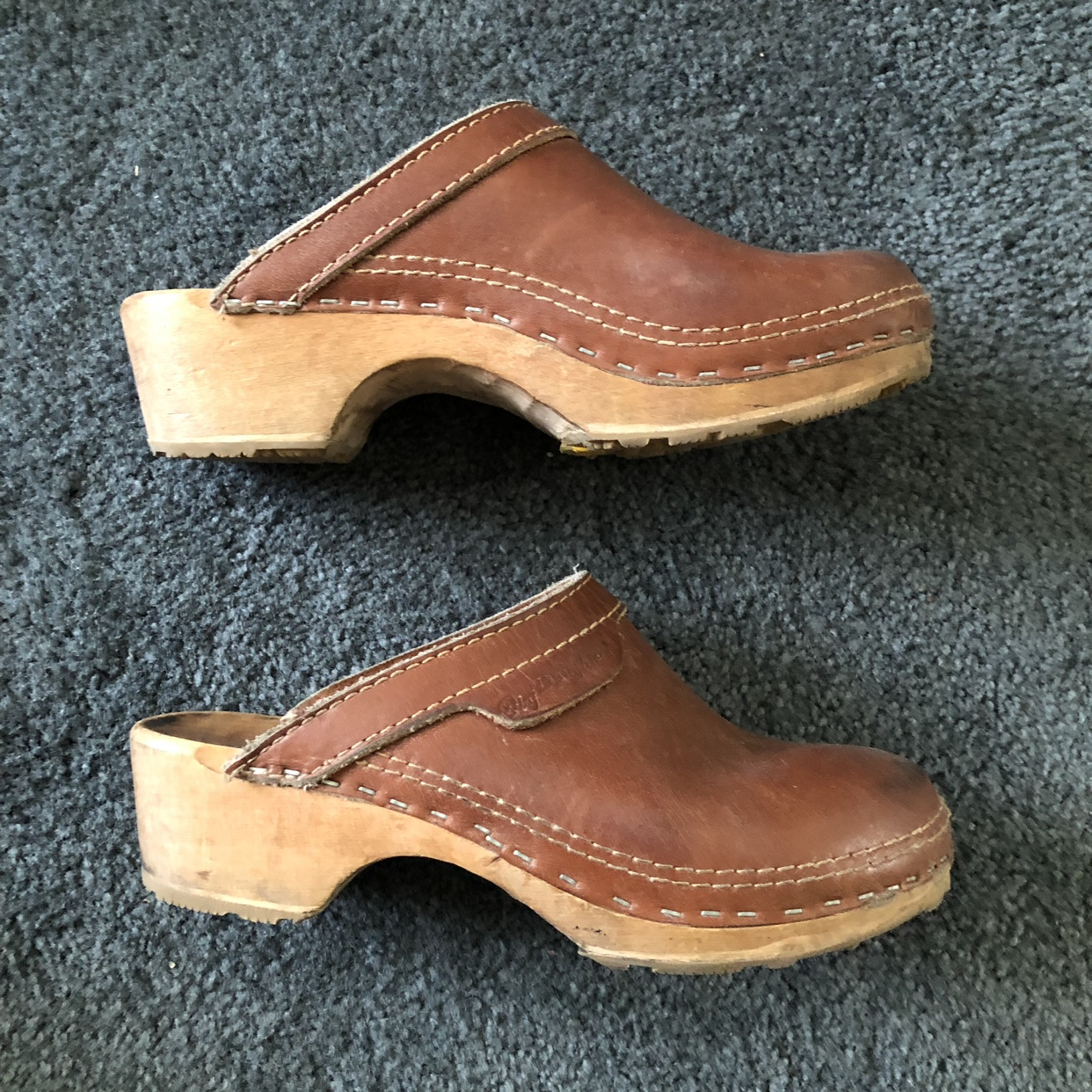 Vintage clogs from the 70s. The brand