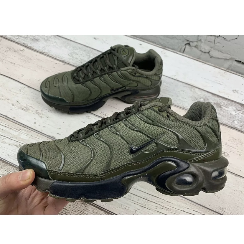 "factory authentic look for sells Nike Air Max Plus TN (GS) ""Olive Cargo"" size UK 4... - Depop"