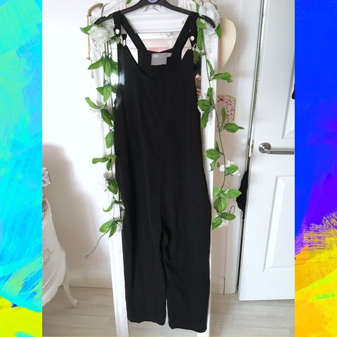2dc97237f05b ASOS drop crotch jumpsuit in black • size 6 • barely worn • - Depop