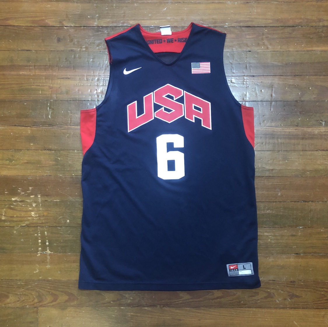 cheap for discount fae03 44abb Nike Lebron James USA jersey Actual... - Depop