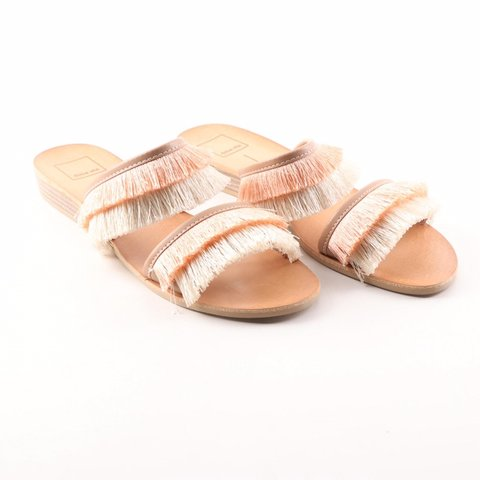 99cc0ad23616 Dolce vita Haya slide sandals. New. Natural fringe. Retail - Depop