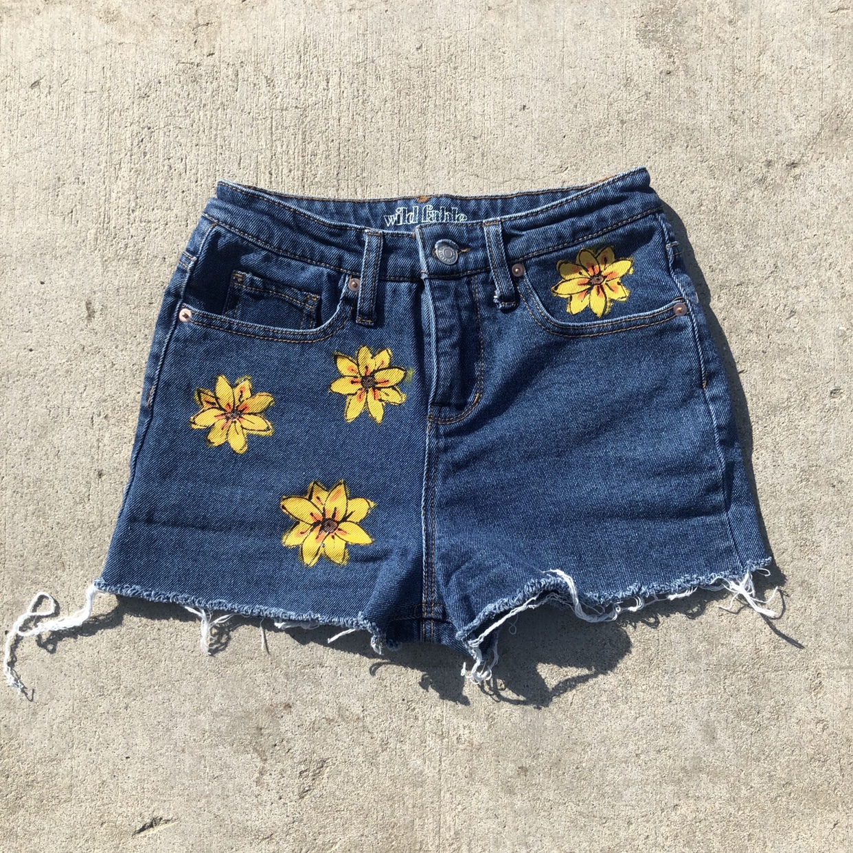Psychedelic Hand Painted Shorts