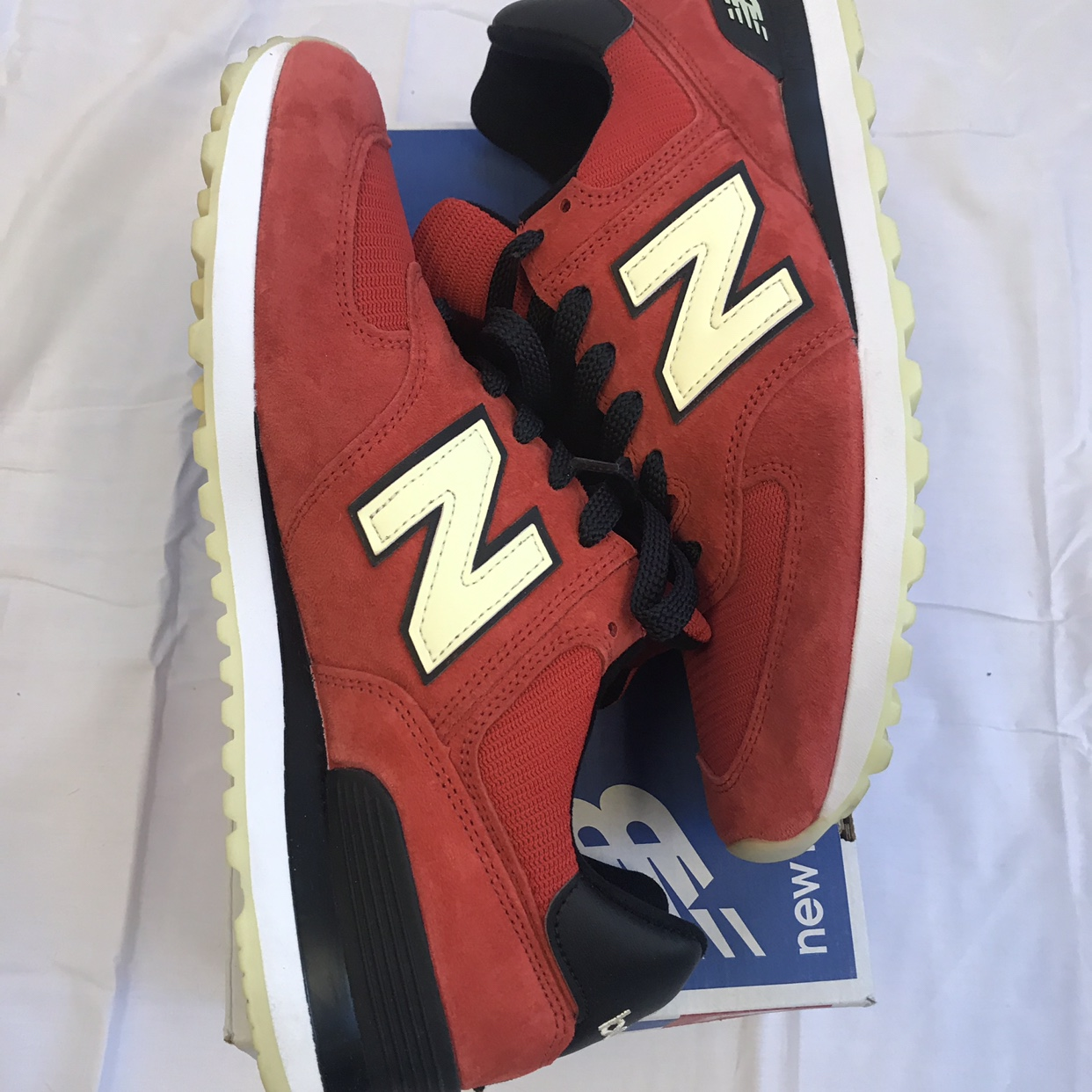Made in the USA New Balance 574 with glow in the Depop