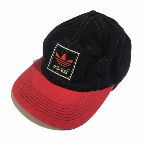 852cfd8c Vintage Adidas Snapback Red and black, solid colors Great - Depop