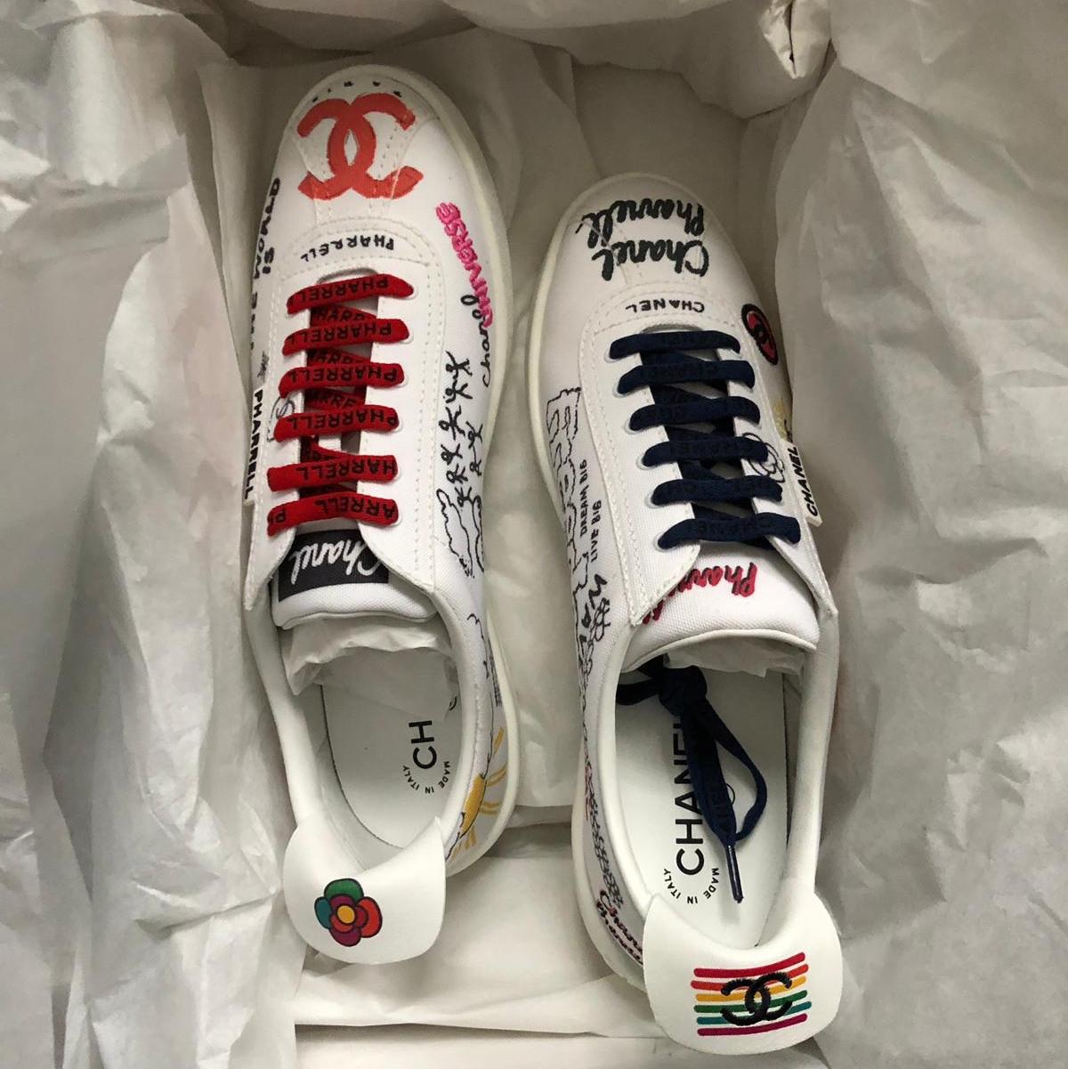 purchase cheap b97b8 b0ece Chanel x Pharrell sneakers / brand new / SOLD OUT... - Depop