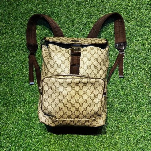 7caa43edae8  treasuredfinds. in 12 hours. United States. Selling low💫 Authentic Vintage  Gucci monogram bagpack