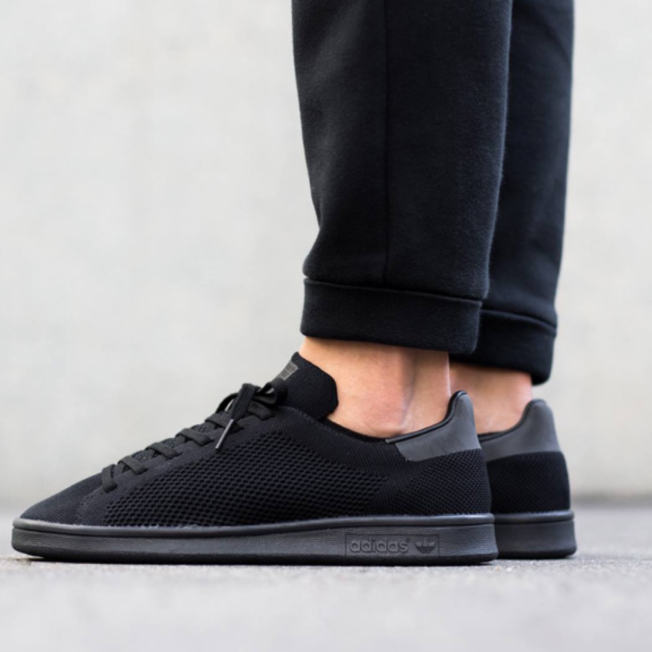 Adidas Stan Smith All Black PrimeKnit., Wore just a...