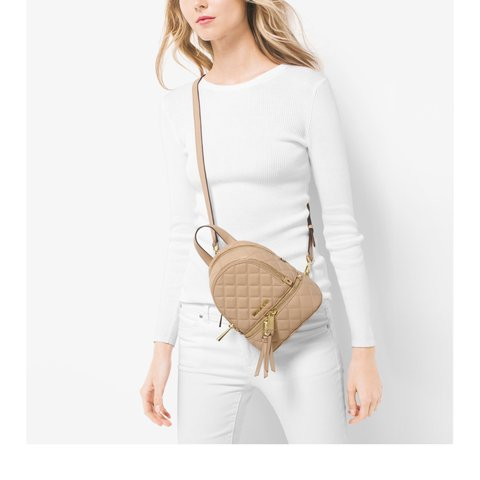 c67db7423e92 @kiribii. 4 months ago. Philadelphia, United States. Michael Kors Rhea  Extra-Small Quilted-Leather Backpack.