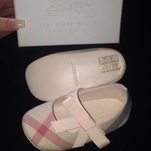 b60a8346a Original Burberry Girls Shoes. Never been worn tag and Size - Depop