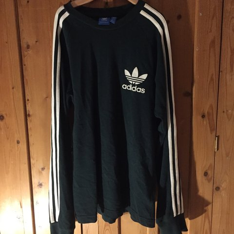 571363b9b @millerheaven. 5 months ago. Hinckley, United Kingdom. ADIDAS ORIGINALS -  Men's dark green long sleeve T-shirt. Good condition. Size small but would  fit ...