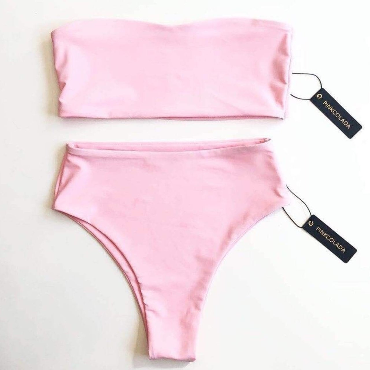 9fa52fbd28 Pink colada high waisted bikini bottoms with matching top💕 depop jpg  1280x1280 Pink colada swimwear