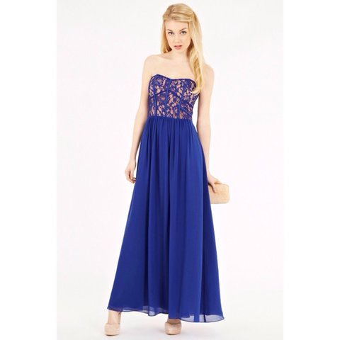 e8fb5ed03098 @ellie_brack. 3 years ago. London, UK. Oasis blue maxi prom dress // size 8  but could fit 10 ...