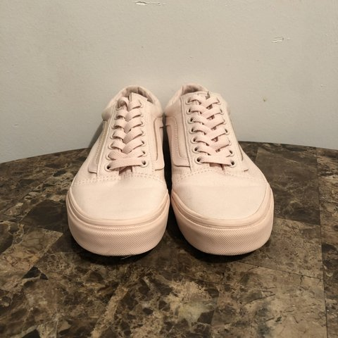 ab2a1f7507e31f Vans Old Skool Mono Pink Only wore these shoes twice. The   - Depop