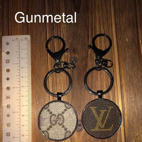 601d3e6021f Keychain w  Gucci or Louis Vuitton canvas Keychain FOB made - Depop