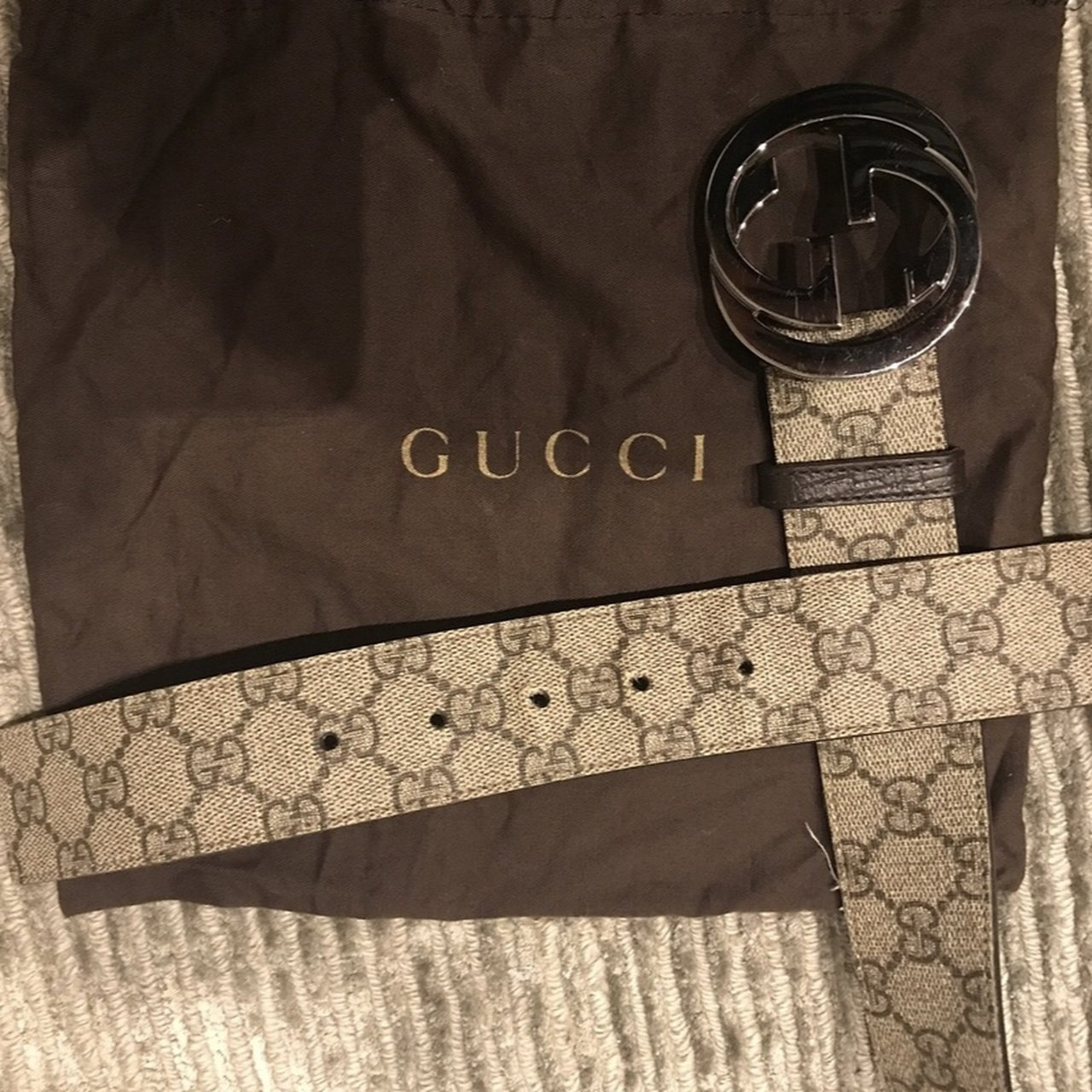 ff0fb43f5 *price drop* gucci vintage monogram belt