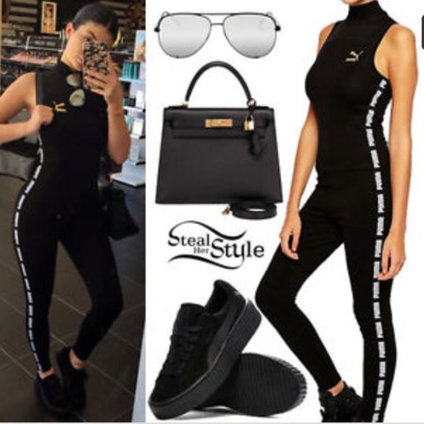 fa69c654a86d Brand new XS puma high neck jumpsuit in original ASOS with - Depop