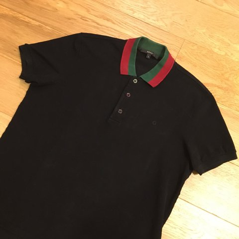 6d473329701 Genuine Gucci web polo. Size Large fits Medium. Very good - Depop