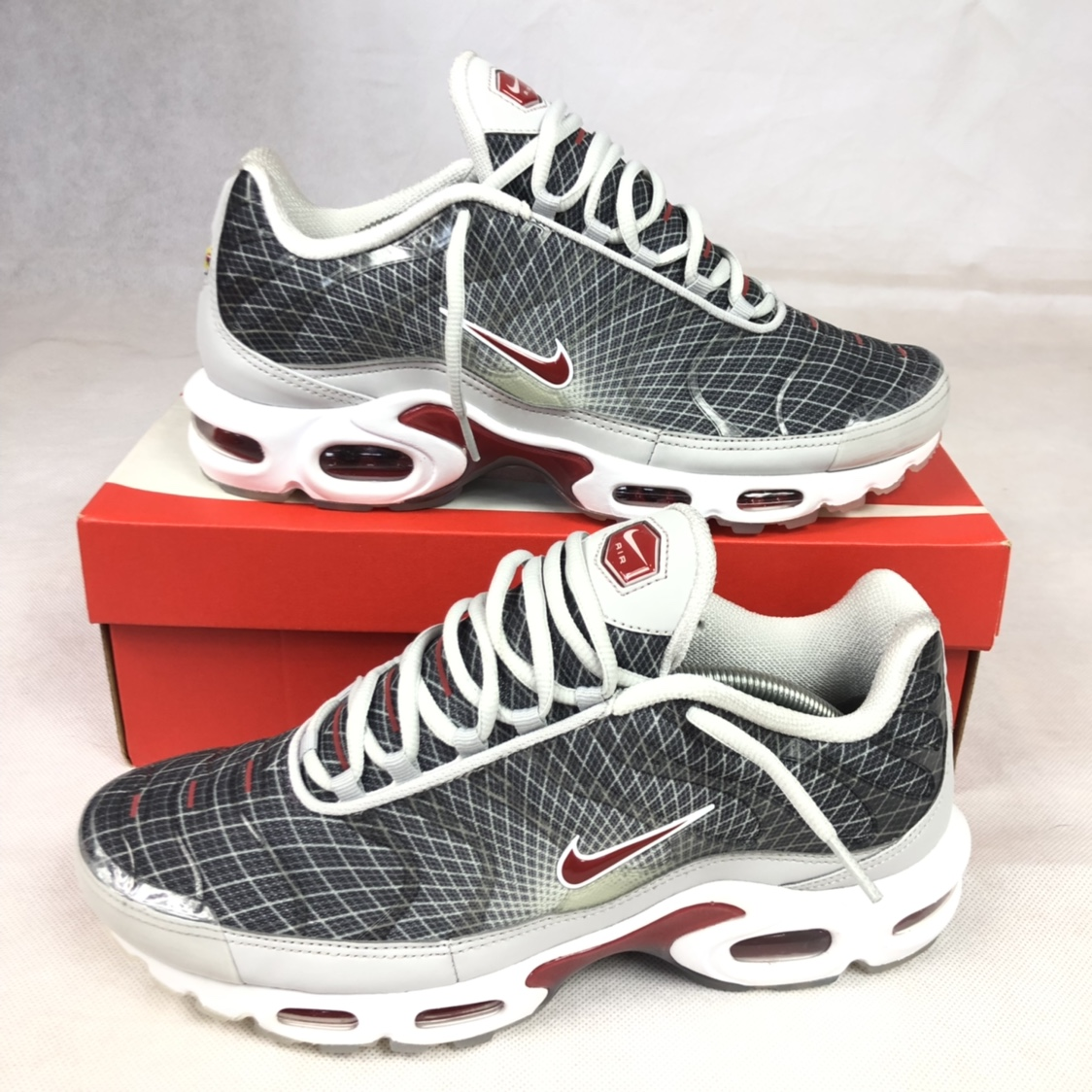 latest design best supplier quality products Nike air max plus og tn neutral grey varsity brand... - Depop