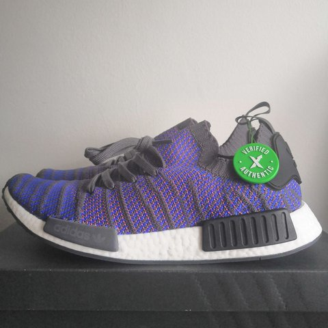 657916ed Adidas NMD STLT R1 High Resolution Blue, With Authentic Tag, - Depop