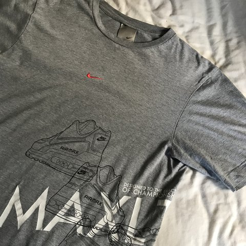 06ed5f2c @lkostecki. 9 months ago. Thetford, United Kingdom. Nike Air Max Limited  LTD grey t shirt. Medium. Great condition.