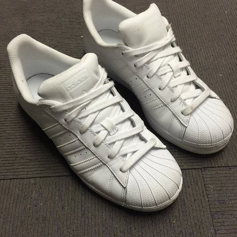 c14ca14128d Adidas All white superstars. Excellent condition  adidas - Depop