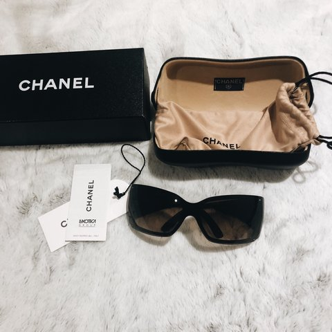 1bcb5e7396367 100% AUTHENTIC CHANEL SUNGLASSES NEVER WORN WITH RECEIPT AND - Depop