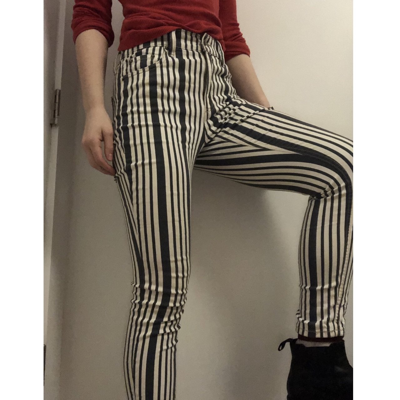 630c6001833473 Free People high waisted striped