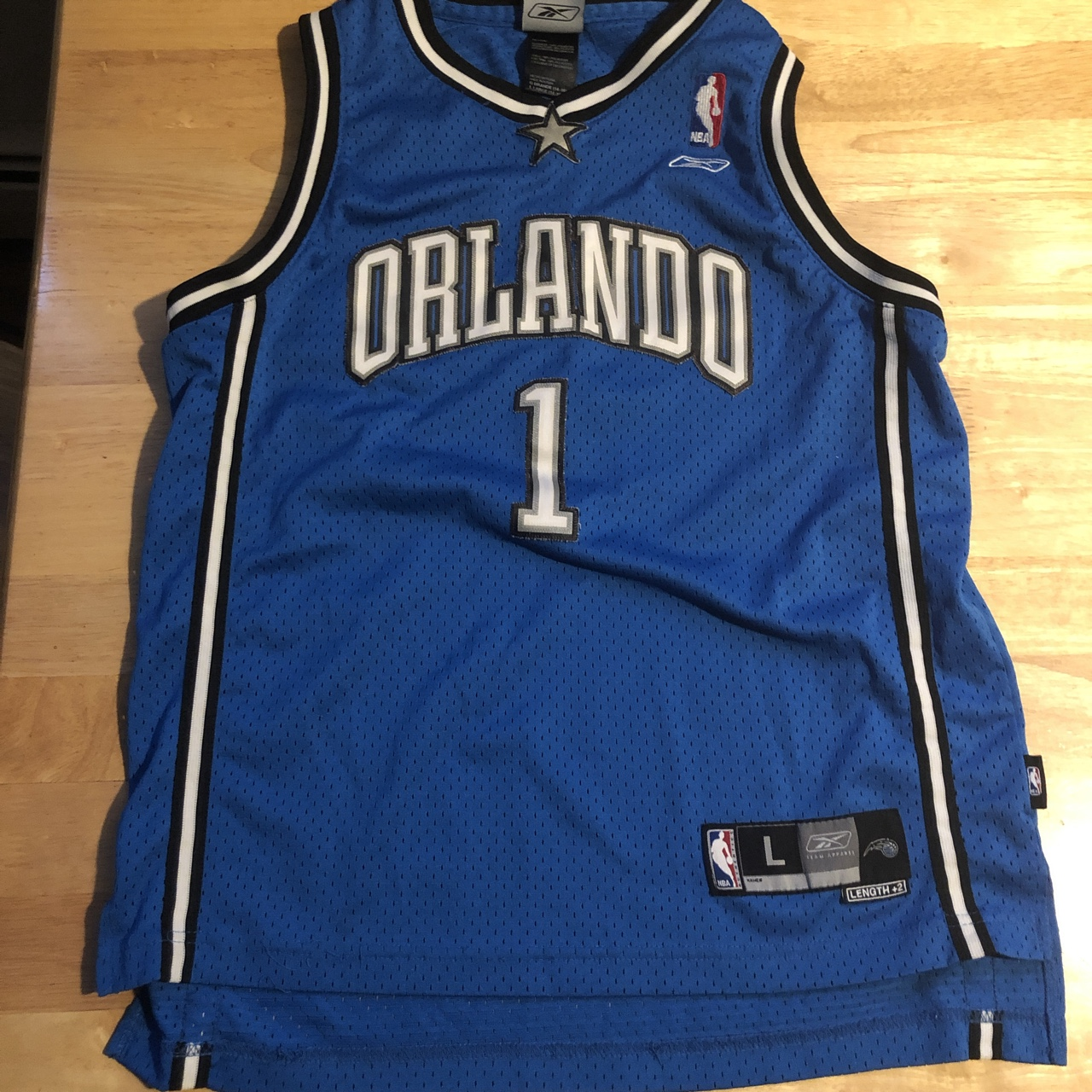 online retailer f42a3 440ff YOUTH Size NBA Jersey Orlando Magic Tracy McGrady... - Depop