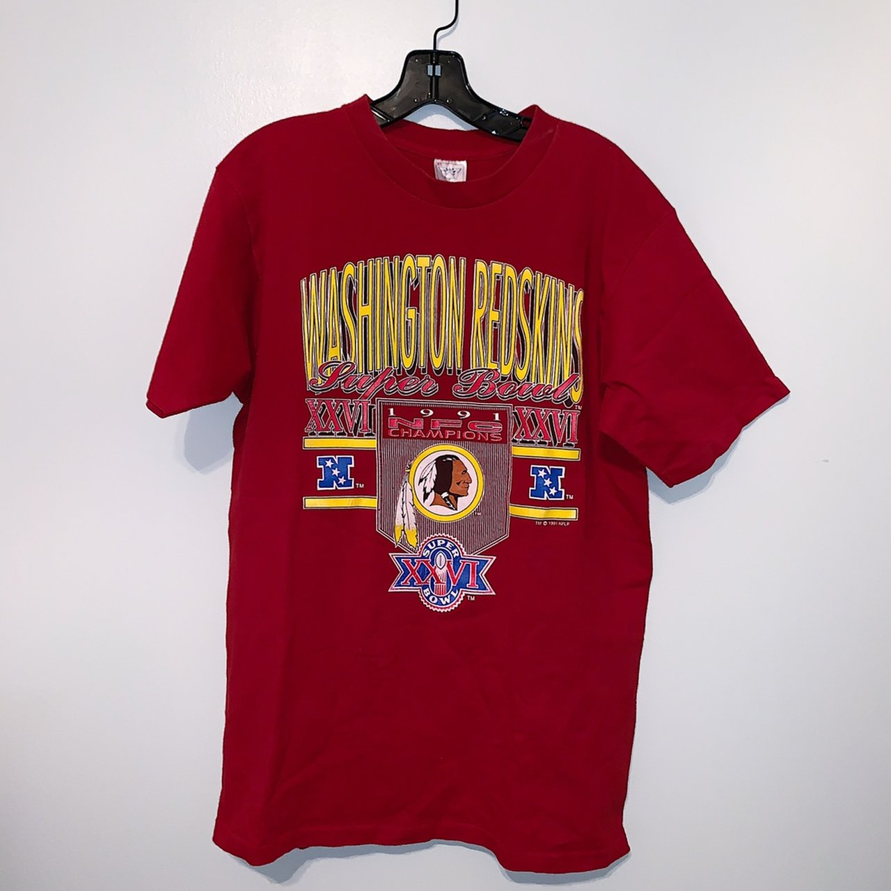 Vintage Washington Redskins Super Bowl XXVI single stitch on - Depop 5c6c5d06d