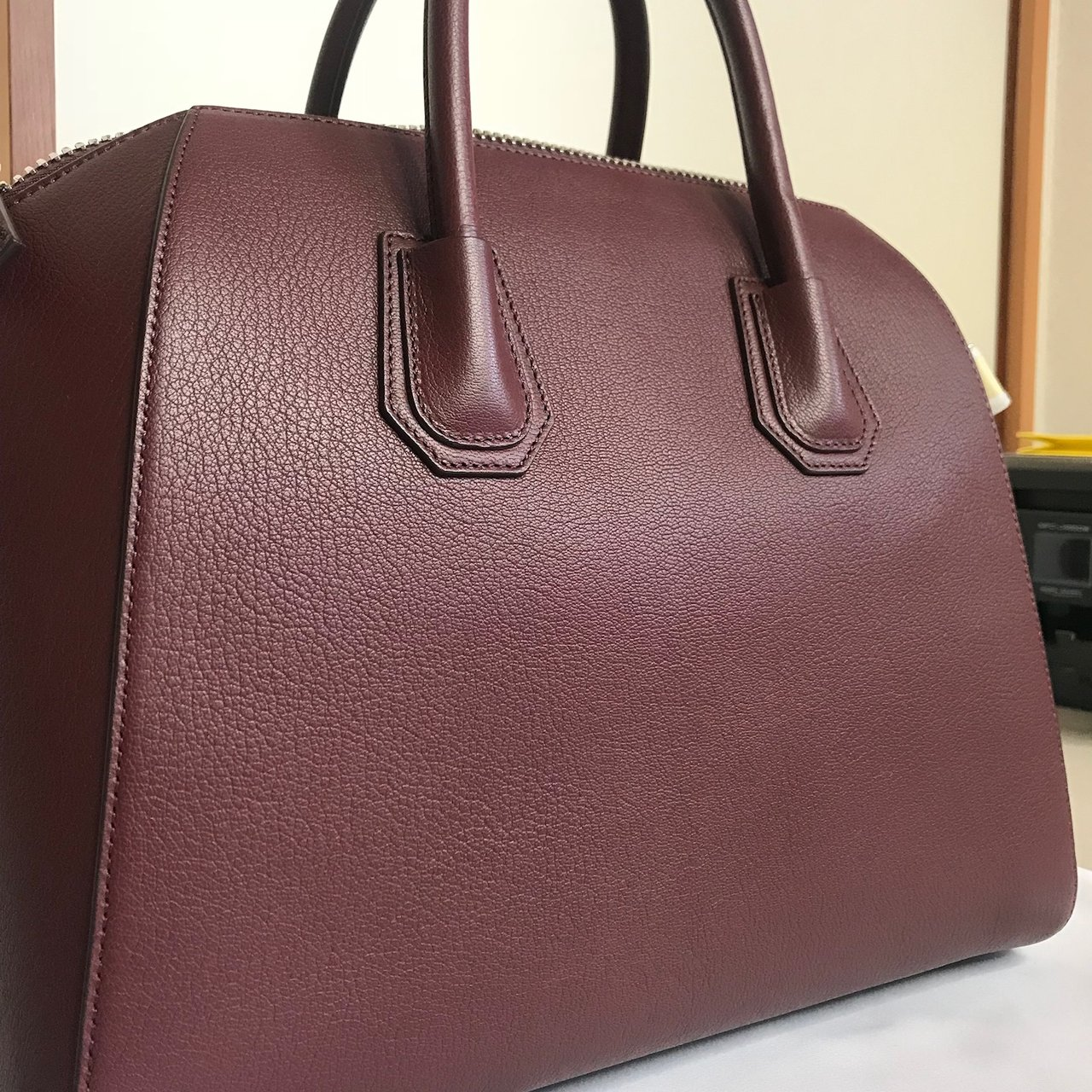 f7292eaf46 Givenchy Satchel in Oxblood ... Givenchy Small Antigona Oxblood Goatskin  Leather Red Top Italy Leather Bag New
