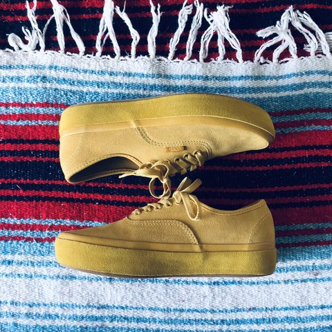 7c3003c991ad58 70s inspired suede outsole mustard yellow ochre authentic in - Depop